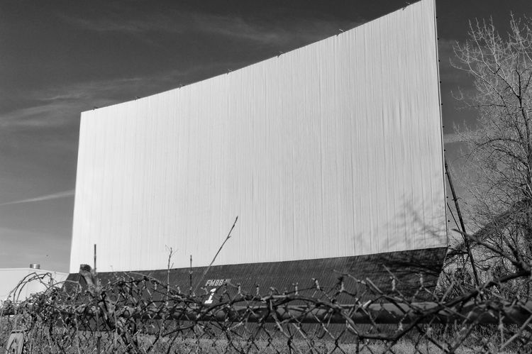Architecture B&w Black And White Building Exterior Built Structure Cinema Cinema In Your Life Day Drive-in Theater EyeEmNewHere MOVIE Movie Time Nature No People Outdoors Photography Screen Sky