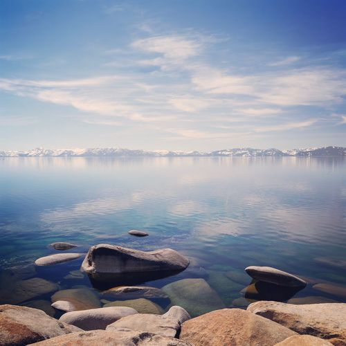 The Lake. Lake Tahoe Calm Still Waters Shore Laketahoe Nevada USA Tranquility