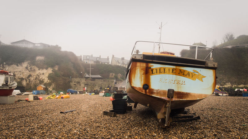 Beach Beachphotography Buoy Cliff Day England Exeter Fishing Boat Misty Misty Morning Moody Outdoors Patina Quaint  Rust Uk Village