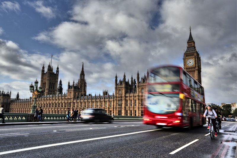 London Big Ben Traffic Bus