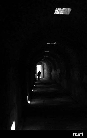 Pergamon, Asklepion Black And White Silhouette