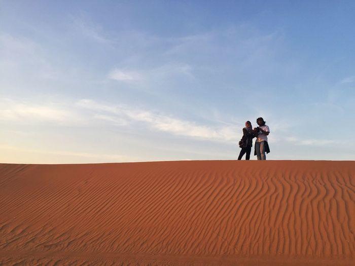Men working in desert