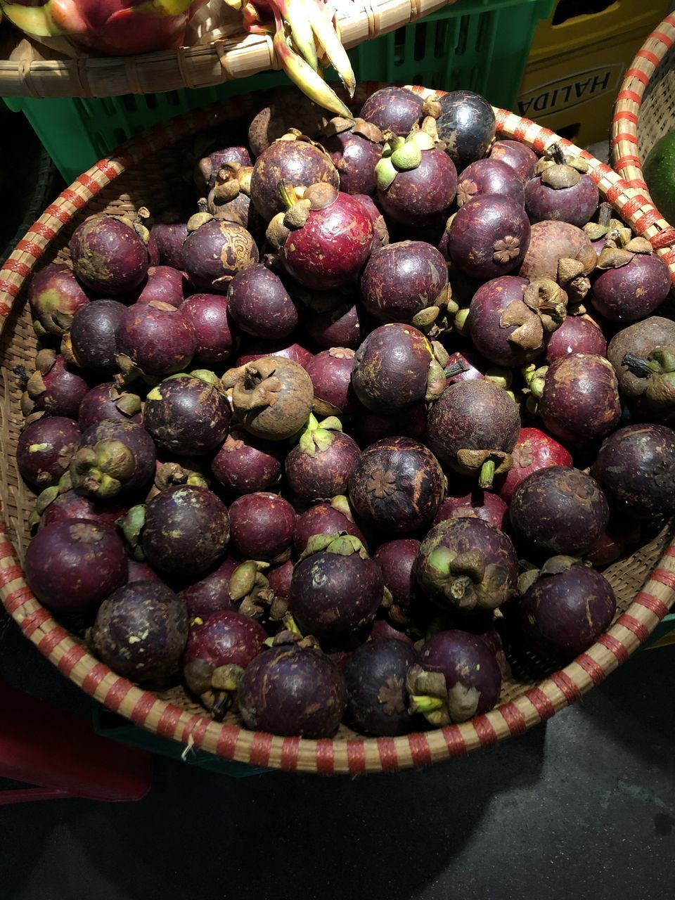 food and drink, food, healthy eating, freshness, wellbeing, fruit, large group of objects, still life, no people, close-up, container, abundance, day, basket, indoors, market, high angle view, for sale, market stall, bowl