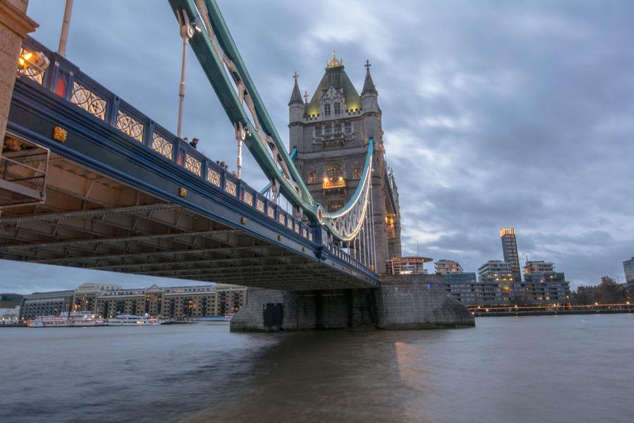 Bridge Dawn Lights London London Bridge Night Tourism Tourism Destination Tourist Attraction  Tower Bridge  Uk Waterfront