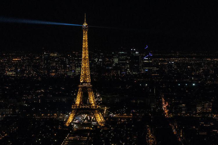 Architecture Building Exterior Cityscape Eiffel Tower France Illuminated Night Travel Destinations