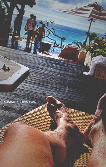 火曜日 PM 3:58 沖繩恩納村, 沒有陽光、沙灘、比基尼, 怎麼能叫放暑假呢.......Haha Kafuuu Resort Fuchaku Cod Summer Okinawa