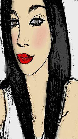 Drawing Taking Photos Selfie Self Potrait