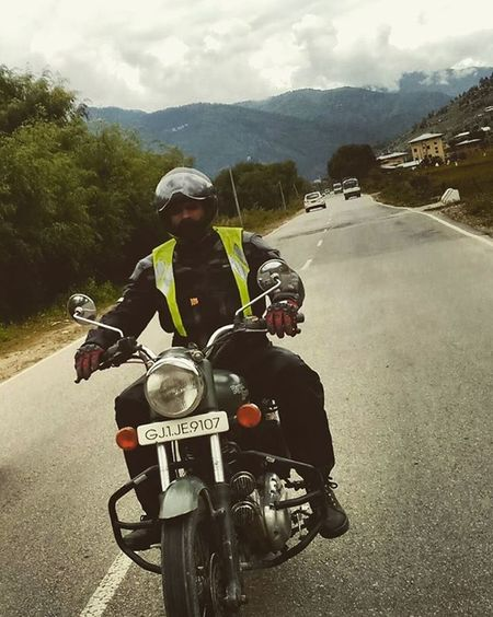 Nomad on two wheels. Royalenfield Matilda Rideon Travel Roadtrip Motorcycle MotorcycleStories TourOfTheDragon BhutanToGujarat Bhutan