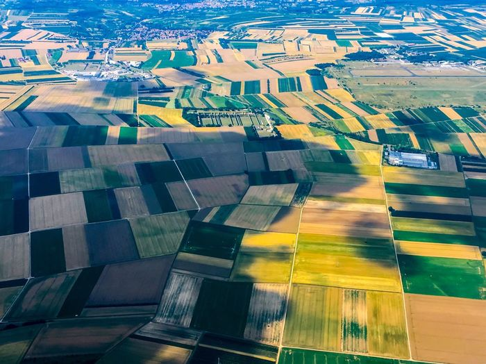 COLOUR PALETTE Aerial View Landscape Environment Agriculture High Angle View Pattern The Traveler - 2018 EyeEm Awards Nature Architecture No People Transportation Patchwork Landscape Day Field Land Building Exterior Rural Scene Farm Green Color Outdoors City The Great Outdoors - 2018 EyeEm Awards