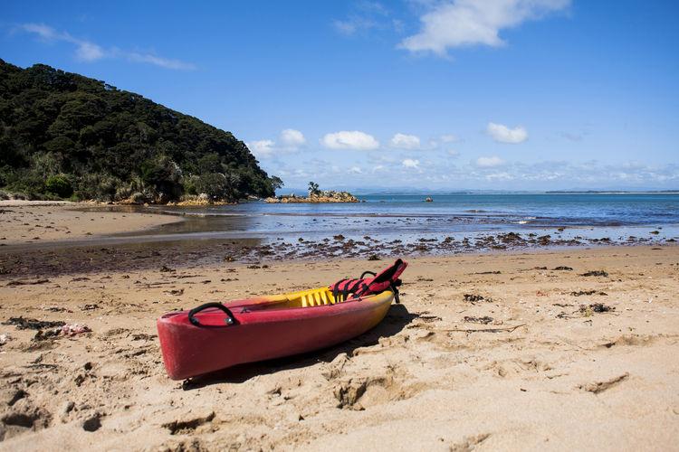Beach Beauty In Nature Cloud - Sky Kayak New Zealand Outdoors Sand Sea Sky Water Whatuwhiwhi EyeEmNewHere A New Beginning
