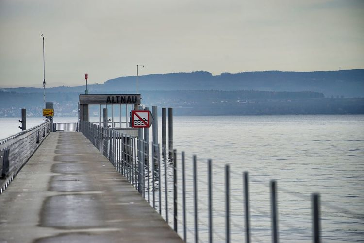 Altnau Bodensee Bodenseeregion Bootssteg Lake Constance No People Outdoors Pier Thurgau