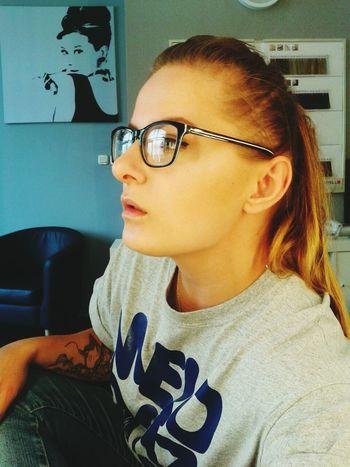 Polish Girl Nerd Glasses  Tattooed Girl Makeup