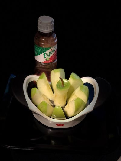 Almost there Apple Still Life Black Background Indoors  Food And Drink Food Kiwi No People SLICE Fruit