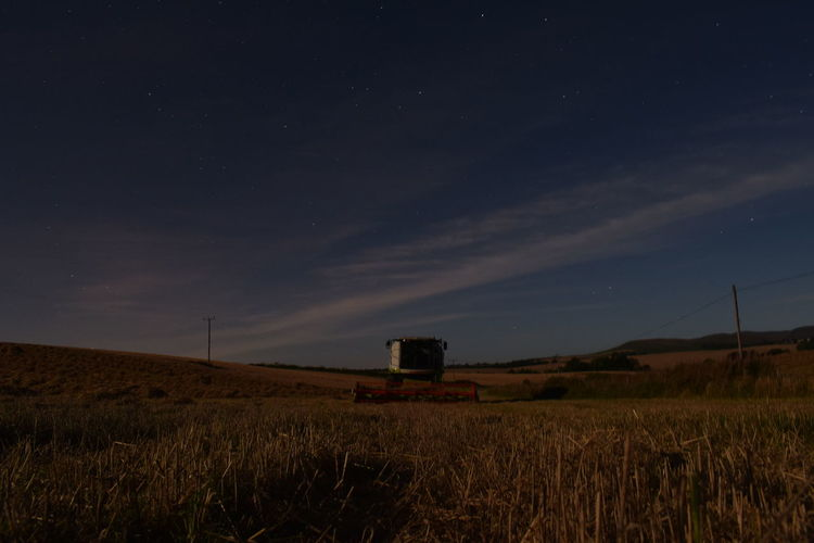 harvest season under the stars Stars Crop  Tractor Wheat Agricultural Equipment Star Field