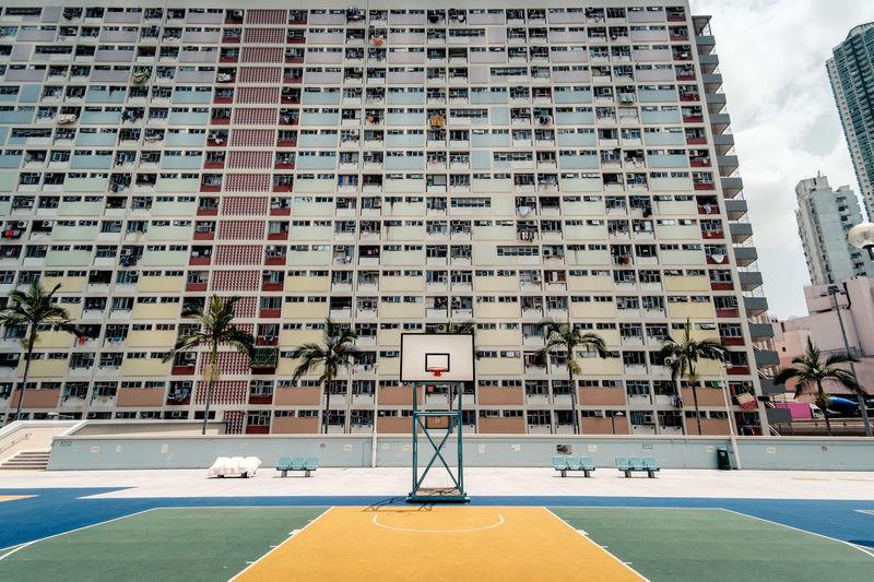Choi Hung Estate Estate Hong Kong Urban ASIA Colourful Basketball Court EyeEmNewHere EyeEmNewHere