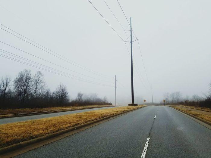 Foggy Morning Fog Foggy Landscape Foggy Road Har-Ber