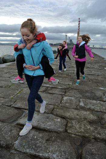 Having Fun on the south wall in Dublin Bay Girls Just Wanna Have Fun Simple Things Are The Best Things