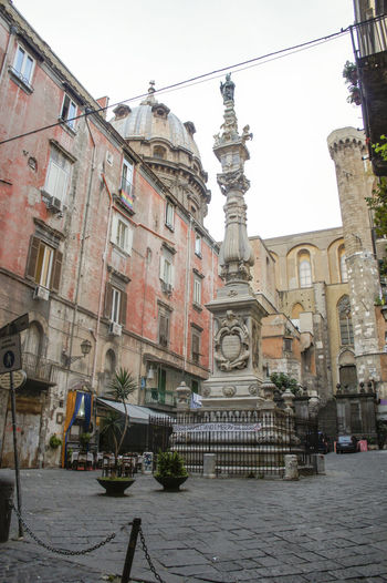 Piazza Sisto Riario Sforza Architecture City Clear Sky Day Obelisco Obelisk Old Town San Gennaro