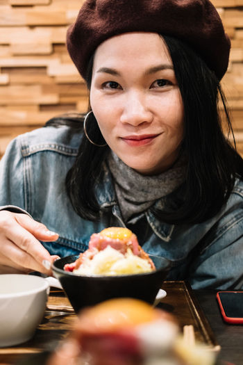 roast beef bowl harajuku Beef Harajuku Rice Roast Beef Bowl Tokyo,Japan Adult Bowl Chinese Eating Food Food And Drink Hair Hairstyle Japan Travel Lifestyles Looking At Camera One Person Portrait Real People Roast Beef Smiling Women Young Adult