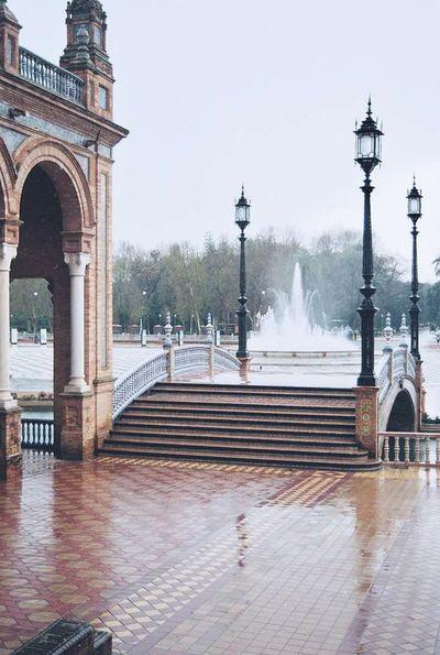 Siviglia SPAIN Piazzavenezia Plaza Rain Fountain Analog Machine