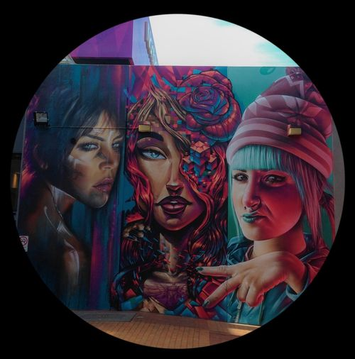 Melbourne Graffiti Girlfriends ♥ wall collaboration by Adnate, Sofles, Smug...