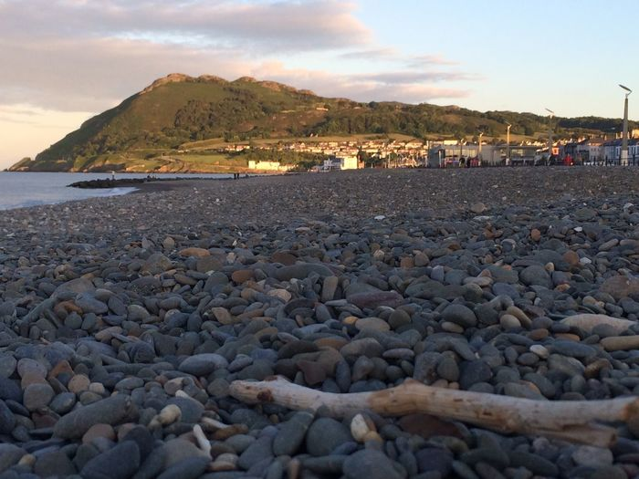 Bray head from the promenade Sunshine And Shade Bray Beach Bray Head Pebbles Seafront Taking Photos Evening Light Contrast