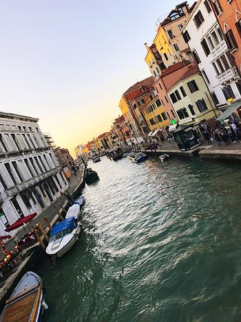 Architecture Building Exterior Built Structure Water Canal Outdoors Day Travel Destinations Clear Sky Nautical Vessel Sky No People City Nature Gondola - Traditional Boat Venice Venice, Italy Venice Canals Venicelife The Week On EyeEm Been There.