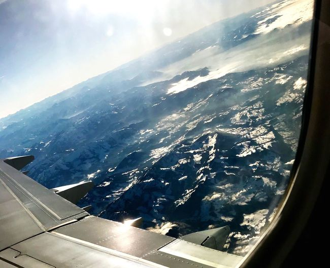 Betterlandscapes Airplane Journey Aerial View Airplane Wing No People Landscape Nature Beauty In Nature Mountain Scenics Flying Lake Constance 3 Countries Lake