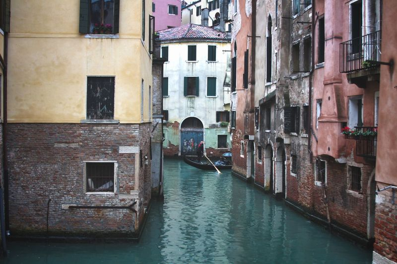The Streets of Venice. EyeEm Best Shots Built Structure Architecture Building Exterior Water Canal Building Nautical Vessel Window Mode Of Transportation Residential District Waterfront City Gondola - Traditional Boat Transportation Outdoors Travel Travel Destinations Day