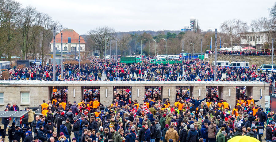Adult Celebration City Life Crowd Day Entrance Entrance Gate Football Fever Football Stadium Large Group Of People Olympiastadion Outdoors People Stadium Tree Urban Exploration