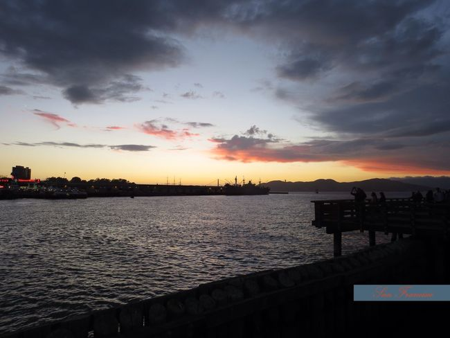 Sunset at Fisherman's Wharf Fisherman's Wharf Natural Beauty Adventure Club Idyllic Scenery Backgrounds Desktop Getting Inspired Sunset Sea And Sky Mood San Francisco Bay Water And Sky Beauty In Nature Travel Destination Atmosphere Tranquil Scene Relaxing At The Bay Vacation Time Beautiful Sky Silhouettes Calm Sea Afternoon ChillOut  Pier 39 Pleasant