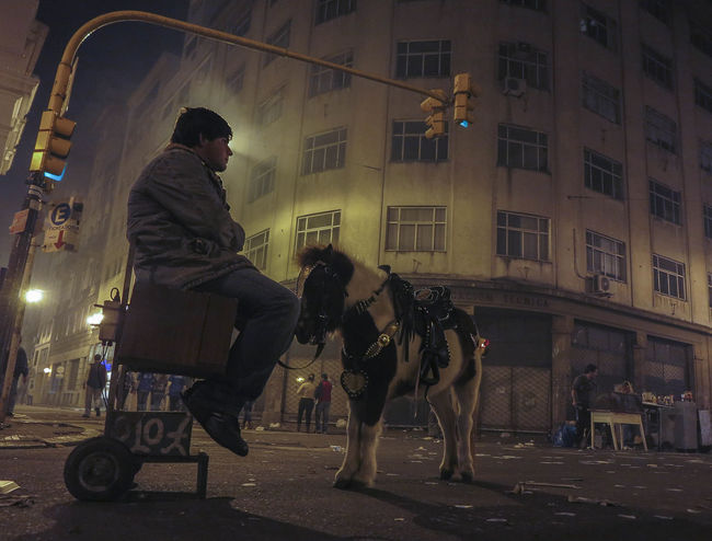 Nightphotography One Person Vendedor Ambulante