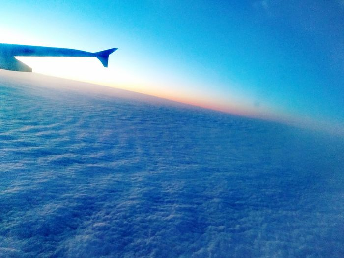Cloud Sheets Perspectives Sky Flight Expanse Cloud - Sky Cloud Cloud Sheet EyeEmNewHere Azure Sky Shades Of Winter Airplane Transportation Blue Travel Mode Of Transport Flying Journey Air Vehicle Sunset Aerial View Aircraft Wing Vacations Scenics