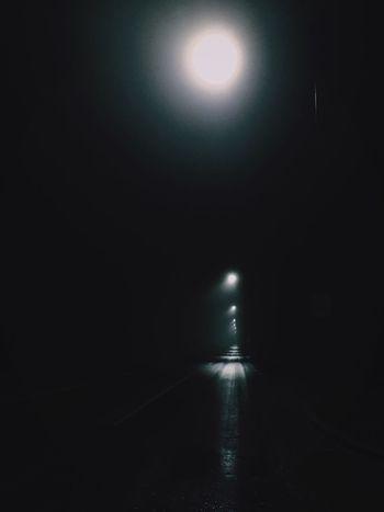 Illuminated Dark The Way Forward Tranquil Scene Long Narrow Night Flooring Diminishing Perspective Tranquility Glowing Vanishing Point Scenics Bright Electric Light Ceiling Light  Majestic Moonlight No People