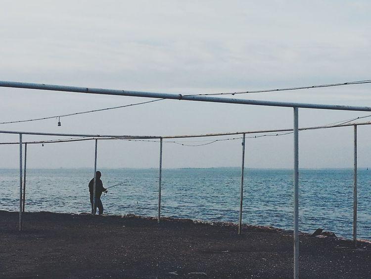"Just Nothing Sea And Man Alone Time EyeEm Gallery Turkey ♡ ""mavi bizde huydur"" ?"