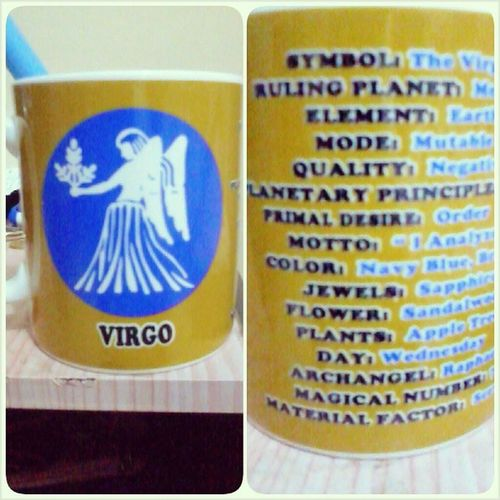 Look at my coffee mug, I'm certified Virgo and I love et. :-) Miryendamode Insta Love