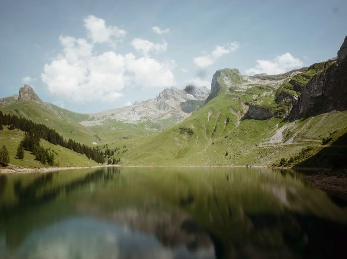 Mountain Sky Reflection Nature Tranquility Tranquil Scene Scenics No People Water Beauty In Nature Day Landscape Lake Outdoors Bannalp Switzerland The Week On EyeEm