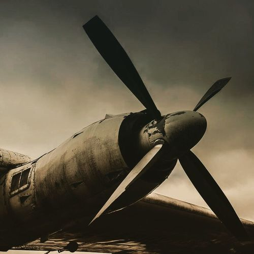 Check This Out Old Plane Black & White Aeroplane