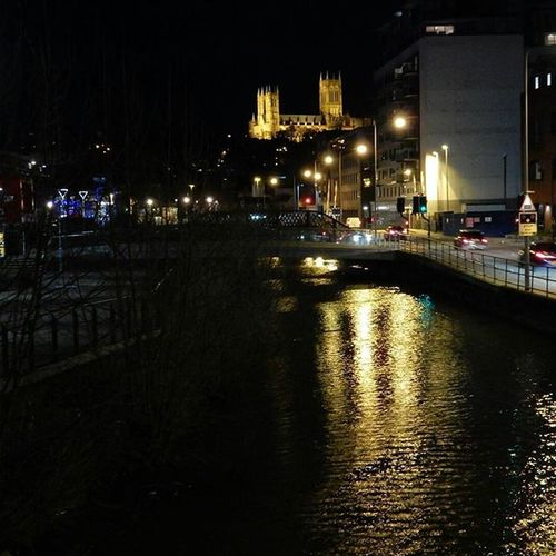 Lincoln Cathedral and City lights, reflections from RopeWalk on my commute home. www.facebook.com/melaniecycles Cycling Bicycle Commutebybike Wintercycling Urbancycling Nightcycling Photography Photos Lifethroughalens Cyclephotography Urbanphotography Nightphotography Waterreflections  Nikon Nikon Photography Cityscape Water River Brayford Brayfordpool Lincolnuniversity