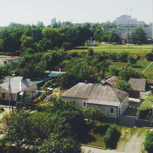 умань дома крыши вид красота
