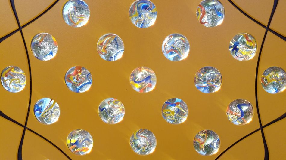 Backgrounds Day Fragility Indoors  Marbles No People Pattern Yellow