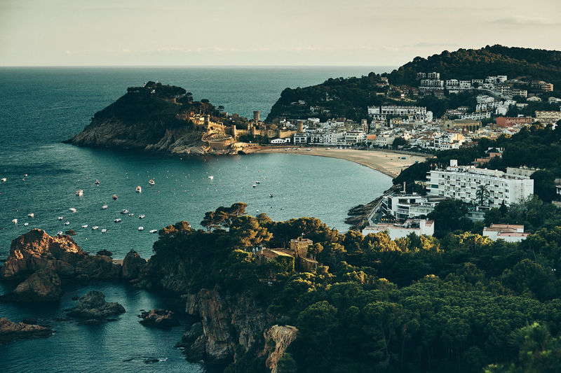 Tossa de Mar The Great Outdoors - 2019 EyeEm Awards Water Sea High Angle View Horizon Over Water TOWNSCAPE Medieval Wall Fortified City Springtime Catalunia Catalan Tossa De Mar Beach Landscape Tourism Hotels And Resorts My Best Photo The Traveler - 2019 EyeEm Awards