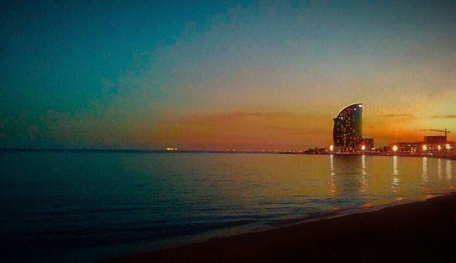 Sea Water Sunset Architecture Sky Built Structure Scenics Travel Destinations Dusk Building Exterior Outdoors No People Reflection Nature Tranquility Tranquil Scene Beauty In Nature Horizon Over Water Night Illuminated