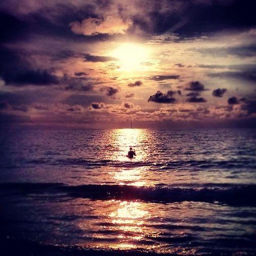 Fishing during Sunset at Kedonganan Beach bali afternoonwalk beautiful