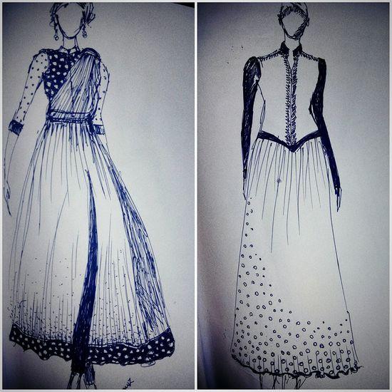 Fashion Illustration Macawz Attire For The Day My Sketch Sketchoftheday
