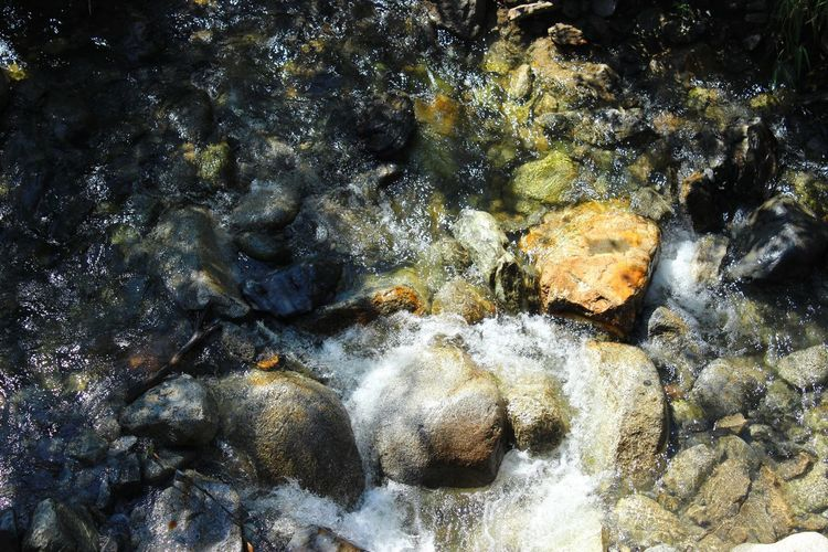 Andorre La Vieille El Tarter Flowing Water High Angle View Motion Nature No People Outdoors Rock Rock - Object Solid Water