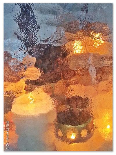 Grave Candle Light Behind The Frosted Glass All Saints' Day All Saints' Day 2016 Allahelgonsdag Gravljus ljus bakom frostat glas