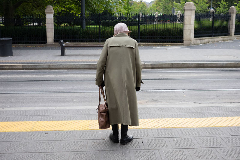 Adult Day Old Woman One Person Outdoors People Real People Rear View The Street Photographer - 2017 EyeEm Awards Tram Stop Waiting Women