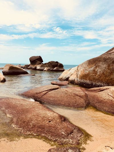 Thai Nature_collection Photography Sole Spiaggia Mare Sky Land Beach Sand Cloud - Sky Nature Sea Beauty In Nature Tranquil Scene Water No People Outdoors Non-urban Scene Scenics - Nature Day Sunlight Tranquility Rock Solid