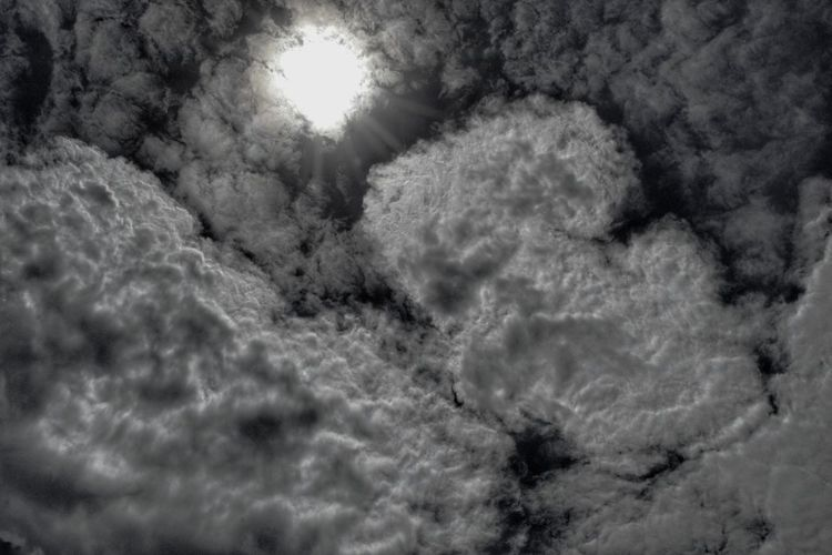 Abstract Clouds 3 on 15 Nov 17. Nature Beauty In Nature Sun Sky Full Frame Backgrounds Outdoors Dark Tone Patterns Penang, Malaysia Nawfal Johnson Cloudscape Black And White No People